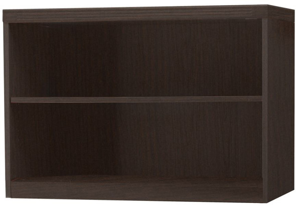 Mayline Aberdeen 2 Shelf Bookcase Mocha [AB2S36LDC]-1