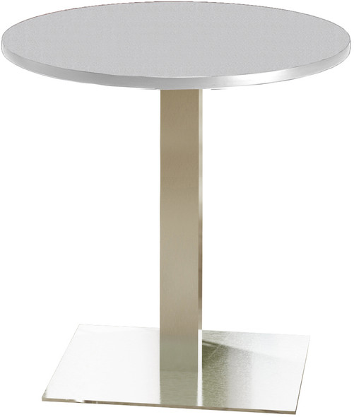 "Mayline Bistro 30"" Round Dining Height Table Stainless Steel, Ice Gray [CA30RLSTFLK]-1"