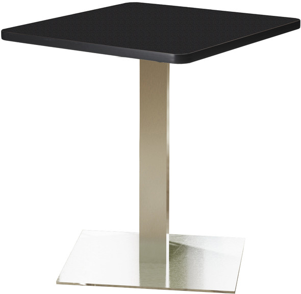 "Mayline Bistro 30"" Square Dining Height Table Stainless Steel Base [CA30SLSTANT]-1"
