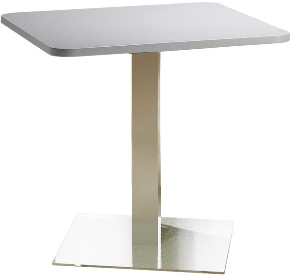 "Mayline Bistro 30"" Square Dining Height Table Stainless Steel, Ice Gray [CA30SLSTFLK]-1"