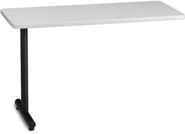 "Mayline T-Mate 48""X24"" Rectangular Adder Table Ice Gray [PRA4824TSFLK]-1"