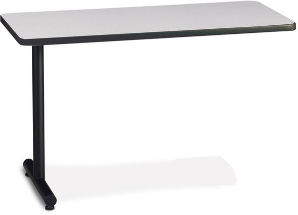 "Mayline T-Mate 48""X24"" Rectangular Adder Table Black [PRA4824TSFLK4]-1"