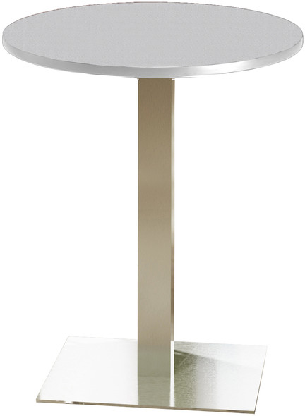"Mayline Bistro 30"" Round Bar Height Table Stainless Steel, Ice Gray [CA30RHSTFLK]-1"