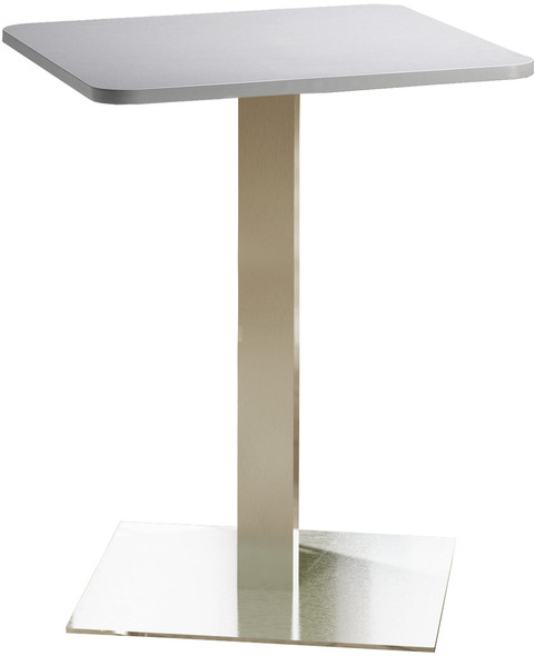 "Mayline Bistro 30"" Square Bar Height Table Stainless Steel, Ice Gray [CA30SHSTFLK]-1"