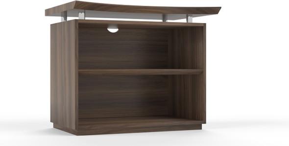 "Mayline Sterling 36"" 2-Shelf Bookcase Textured Brown Sugar [STEB2TBS]-1"