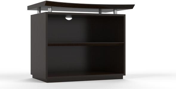 "Mayline Sterling 36"" 2-Shelf Bookcase Textured Mocha [STEB2TDC]-1"