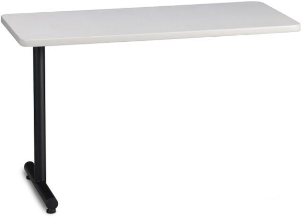 "Mayline T-Mate 60""X24"" Rectangular Adder Table Ice Gray [PRA6024TSFLK]-1"