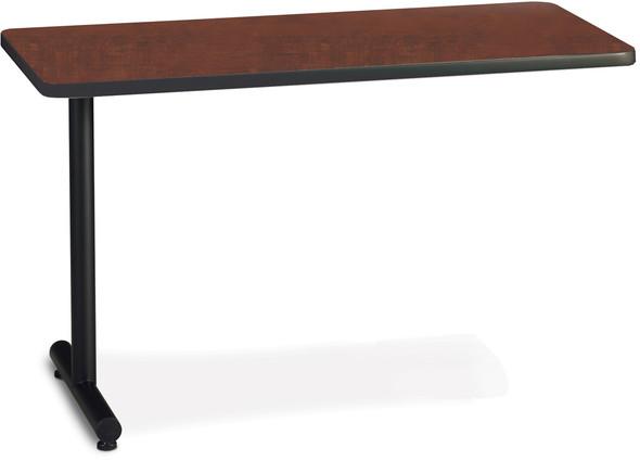 "Mayline T-Mate 60""X24"" Rectangular Adder Table Regal Mahogany [PRA6024TSRMH]-1"