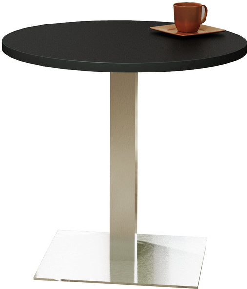 "Mayline Bistro 36"" Round Dining Height Table Stainless Steel Base [CA36RLSTANT]-1"