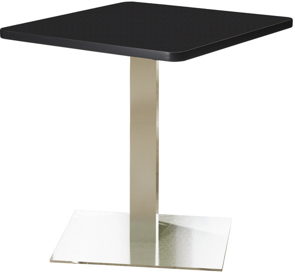 "Mayline Bistro 36"" Square Dining Height Table Stainless Steel Base [CA36SLSTANT]-1"