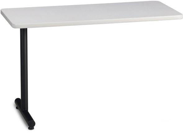 "Mayline T-Mate 72""x24"" Rectangular Adder Table Ice Gray [PRA7224TSFLK]-1"