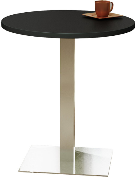 "Mayline Bistro 36"" Round Bar Height Table Stainless Steel Base [CA36RHSTANT]-1"
