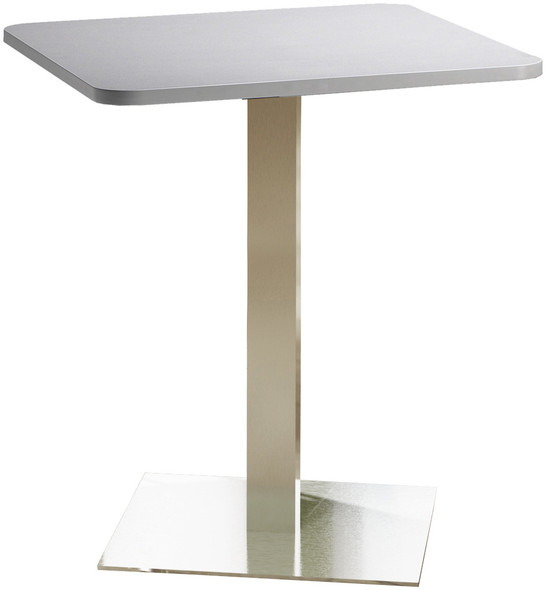 "Mayline Bistro 36"" Square Bar Height Table Stainless Steel, Ice Gray [CA36SHSTFLK]-1"