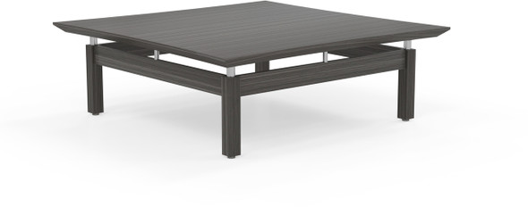 "Mayline Sterling 48"" Square Coffee Table Textured Driftwood [STCTTDW]-1"
