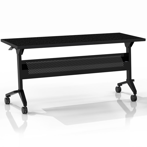 "Mayline Flip-N-Go 48""x18"" Rectangular Table Anthracite [LF1848TANT]-1"