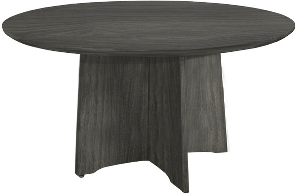 "Mayline Medina Conference Table 48"" Round Gray Steel [MNCR48LGS]-1"
