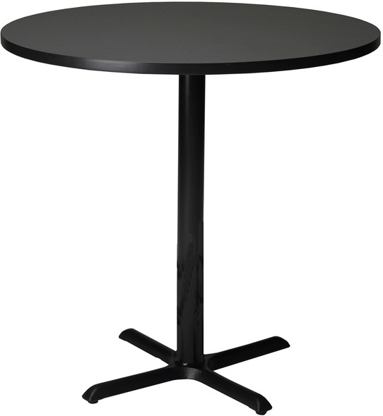 "Mayline Bistro 42"" Round Bar Height Table Black Base [CA42RHBTANT]-1"