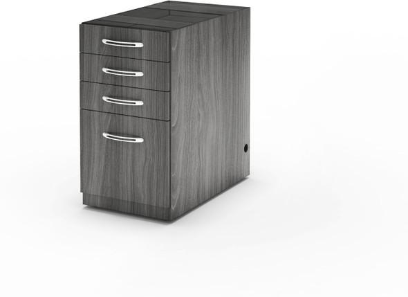 Mayline Aberdeen Desk PBBF Pedestal Gray Steel [APBBF26LGS]-1