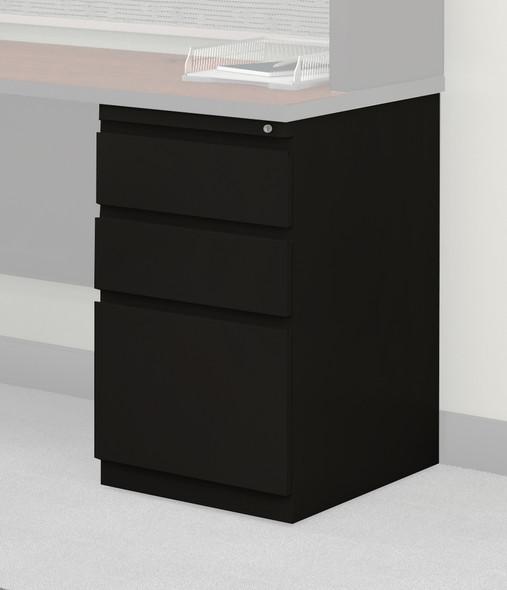 Mayline CSII Desking Pedestal BBF Black [C8830BS5]-1