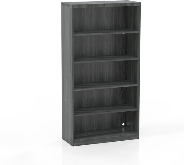 Mayline Aberdeen 5 Shelf Bookcase Gray Steel [AB5S36LGS]-1
