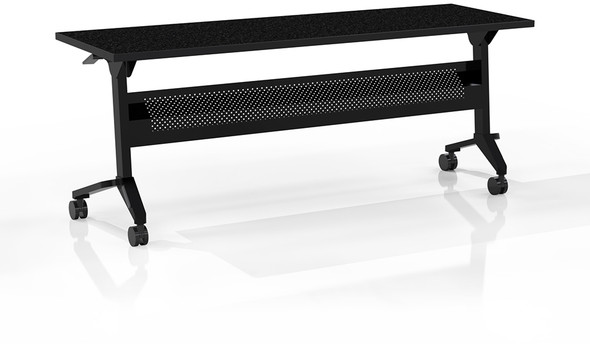 "Mayline Flip-N-Go 72""x18"" Rectangular Table Anthracite [LF1872TANT]-1"