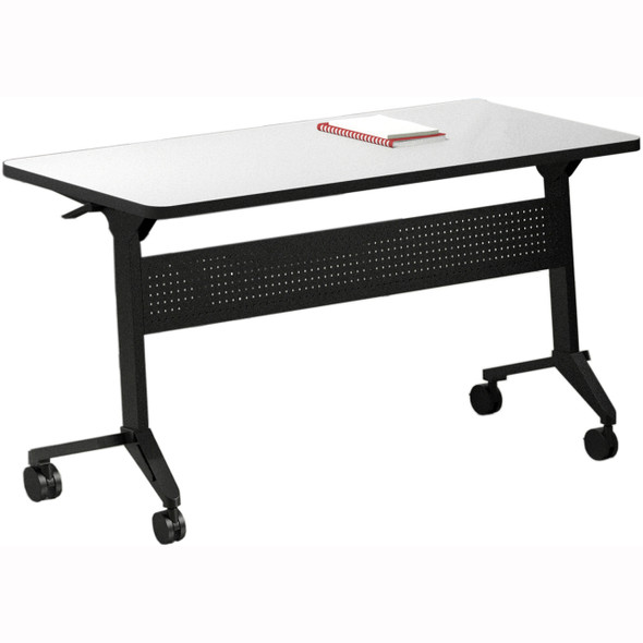 "Mayline Flip-N-Go 72""x18"" Rectangular Table Folkstone [LF1872TFLK4]-1"