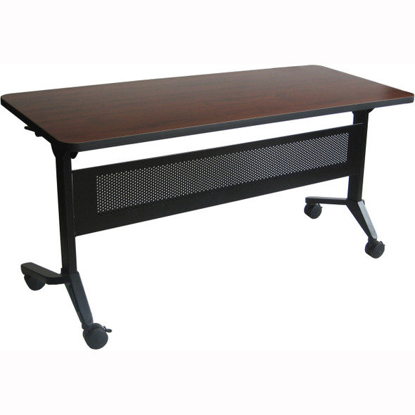 "Mayline Flip-N-Go 72""x18"" Rectangular Table Regal Mahogany [LF1872TRMH]-1"