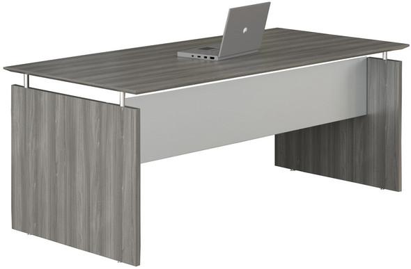 "Mayline Medina 72"" Rectangle Straight Desk Gray Steel [MNDS72LGS]-1"