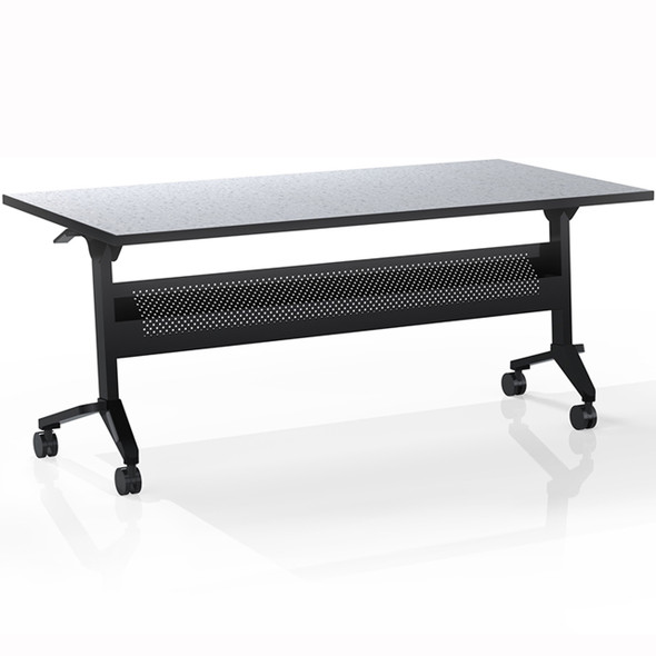 "Mayline Flip-N-Go 60""x24"" Rectangular Table Folkstone [LF2460TFLK4]-1"
