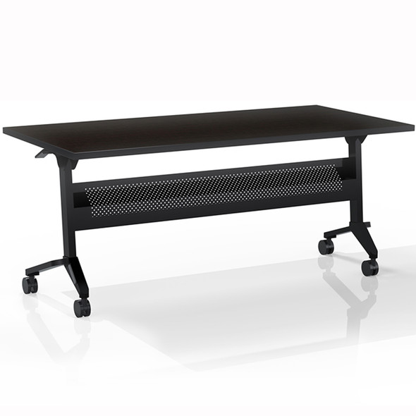 "Mayline Flip-N-Go 60""x24"" Rectangular Table Mocha [LF2460TLDCM]-1"