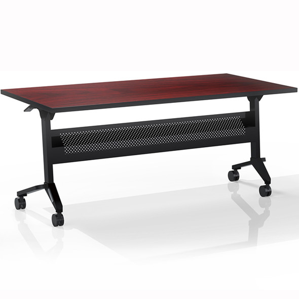 "Mayline Flip-N-Go 60""x24"" Rectangular Table Regal Mahogany [LF2460TRMH]-1"