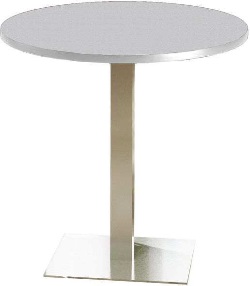 "Mayline Bistro 42"" Round Bar Height Table Stainless Steel, Ice Gray [CA42RHSTFLK]-1"