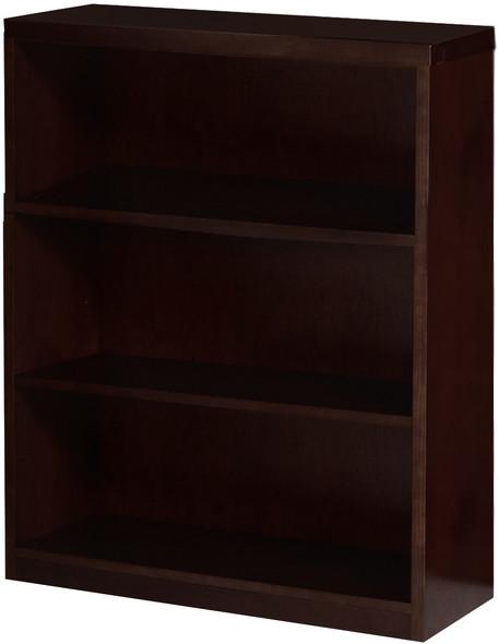 "Mayline Mira Bookcase 42""H Espresso Veneer [MBC3642ESP]-1"