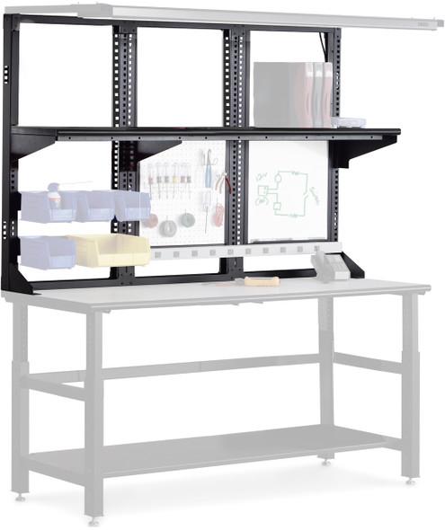 """Mayline Techworks 60""""x48"""" Upper Desk Frame Black [7103DV5]-1"""