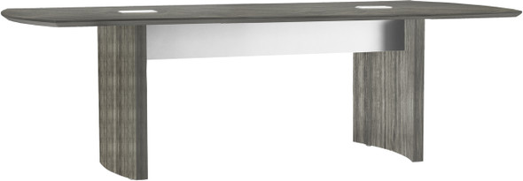 Mayline Medina Conference Table 8' Gray Steel [MNC8LGS]-1