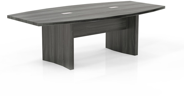 Mayline Aberdeen 8' Conference Table, Boat Gray Steel [ACTB8LGS]-1