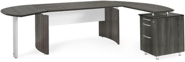 Mayline Medina Office Desk Set Gray Steel [MNT1LGS]-1