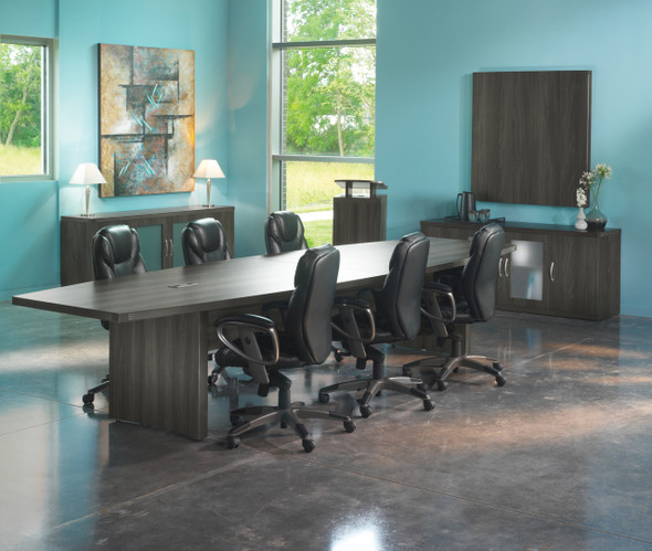 Mayline Aberdeen 12' Conference Table, Boat Gray Steel [ACTB12LGS]-1