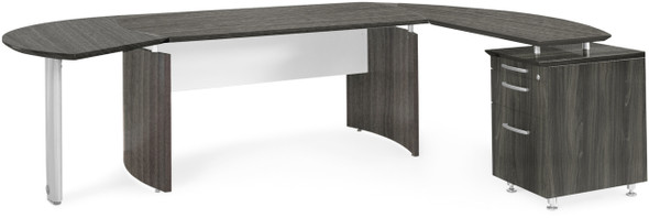 Mayline Medina Office Desk Set Gray Steel [MNT4LGS]-1