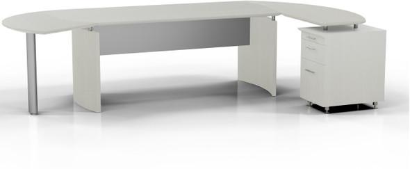 Mayline Medina Office Desk Set Textured Sea Salt [MNT4TSS]-1