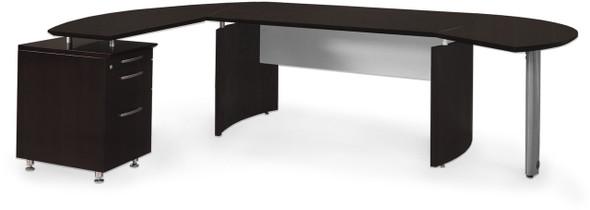 Mayline Medina Office Desk Set Mocha [MNT5LDC]-1