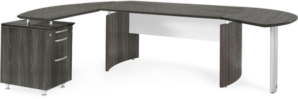 Mayline Medina Office Desk Set Gray Steel [MNT5LGS]-1