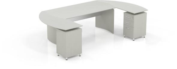 Mayline Medina Office Desk Set Textured Sea Salt [MNT3TSS]-1
