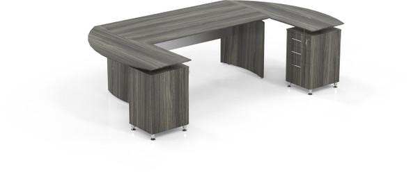 Mayline Medina Office Desk Set Gray Steel [MNT6LGS]-1
