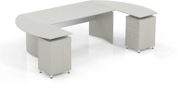 Mayline Medina Office Desk Set Textured Sea Salt [MNT6TSS]-1