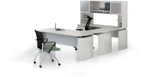 Mayline Medina Office Desk Set Textured Sea Salt [MNT33TSS]-1