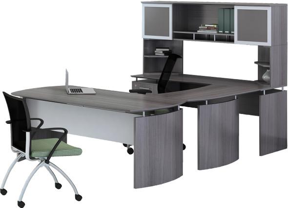 Mayline Medina Office Desk Set Gray Steel [MNT33LGS]-1