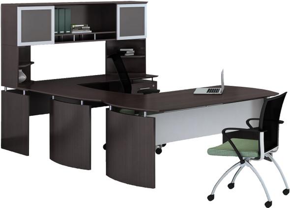 Mayline Medina Office Desk Set Mocha [MNT34LDC]-1