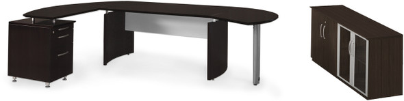 Mayline Medina Office Desk Set Mocha [MNT8LDC]-1