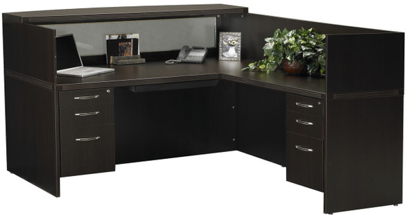 Mayline Aberdeen Office Desk Set Mocha [AT36LDC]-1